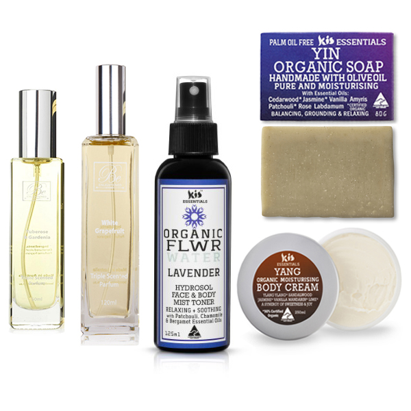 Be Enlightened and Kis my Body Value packs of perfumes, hydrosols, face creams and soaps - bulk purchase deals
