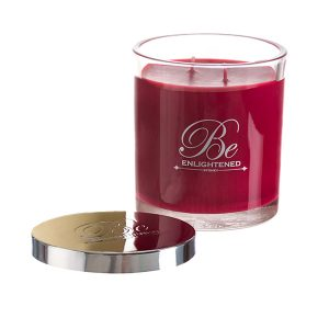 elegant triple scented candle by Be Enlightened