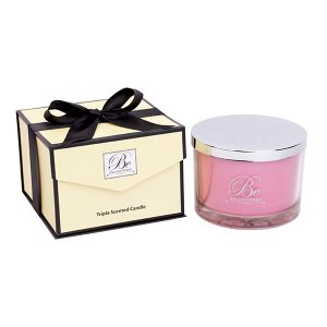 Pink Roses Be Enlightened Luxury Candle