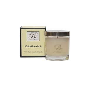 White Grape Fruit Be Enlightened Petite Triple Scented Candle