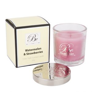 Petite Triple Scented Candle 100g Watermelon Strawberries