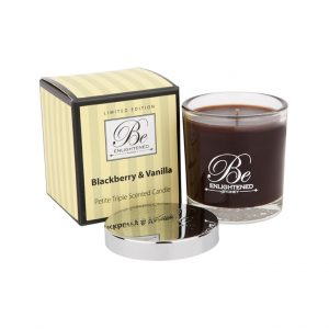 Petite Triple Scented Candle Blackberry and Vanilla