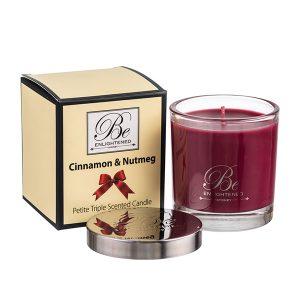 Cinnamon & Nutmeg Be Enlightened Petite Triple Scented Candle