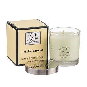 Tropical Coconut Be Enlightened Petite Triple Scented Candle