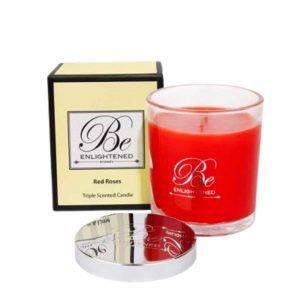 Red Roses Be Enlightened Triple Scented Elegant Candle 80hrs