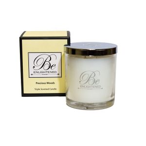 Precious Woods Be Enlightened Triple Scented Candle