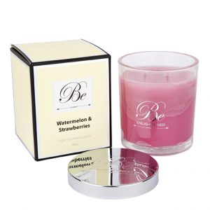 Triple Scented Watermelon and Strawberries Candle by Be Enlightened