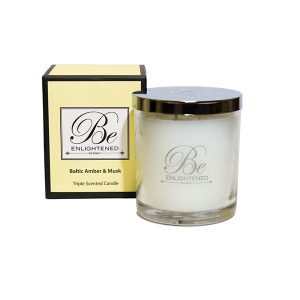 Baltic Amber & Musk Be Enlightened Triple Scented Candle