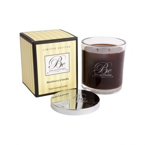 Blackberry and Vanilla Triple Scented Candle by Be Enlightened