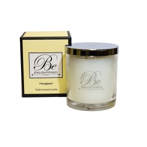 Frangipani Be Enlightened Triple Scented Candle