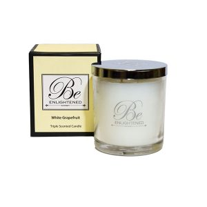 White Grapefruit Be Enlightened Triple Scented Candle