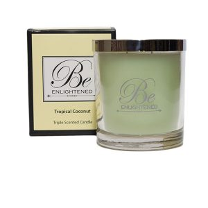 Tropical Coconut Be Enlightened Triple Scented Candle