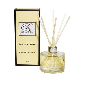 Baltic Amber & Musk Be Enlightened Triple Scented Diffuser