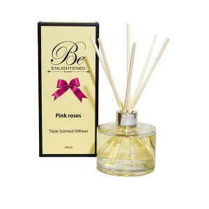 Pink Roses Be Enlightened Triple Scented Diffuser